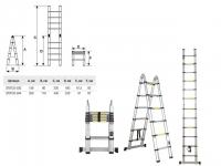 Лестница телескопическая двухсекц. 209/440 см STARTUL (ST9733-044) в Гродно