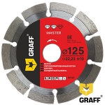 Алмазный диск GRAFF Master по бетону и камню 125x10x2,2x22,23 мм в Гродно