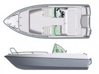 Лодка пластиковая Terhi 475 TWIN C в Гродно