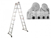Лестница алюминевая многофункц. STARTUL 330-680 см (ST9732-06) в Гродно
