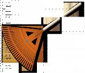 Грабли веерные BRADAS - 27 зубцов, черенок деревянный, KT-CX27W в Могилеве