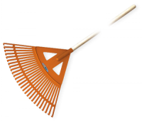 Грабли веерные BRADAS - 27 зубцов, черенок деревянный, KT-CX27W