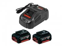 Комплект аккумуляторов Bosch GBA18 V 5 Ач 2 шт. + зарядное GAL1880CV в Могилеве
