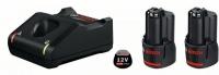 Набор 2 аккумулятора и зарядное BOSCH GBA 12 V 2.0 Ah Professional в Могилеве
