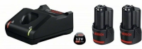 Набор 2 аккумулятора и зарядное BOSCH GBA 12 V 2.0 Ah Professional в Витебске