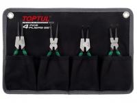 Набор съемников стопорных колец 4шт. на полотне TOPTUL (GPAQ0401) в Могилеве