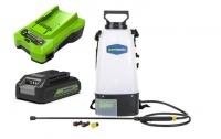 Опрыскиватель аккумуляторный GreenWorks GSP1250  в Гродно