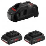 Набор 2 аккумулятора и зарядное BOSCH ProCORE 18V 4.0 Ah Professional в Могилеве