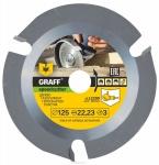 Пильный диск по дереву 125 мм для болгарки GRAFF Speedcutter