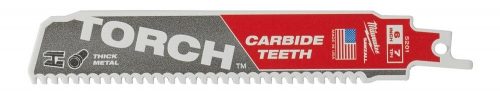 Полотно для сабельной пилы (по металлу) MILWAUKEE TORCH CARBIDE TEETH 150х3,6 (5 шт.)