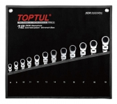 Набор ключей с поворотн. трещоткой 8-19 мм 12 пр TOPTUL (GPAQ1204)