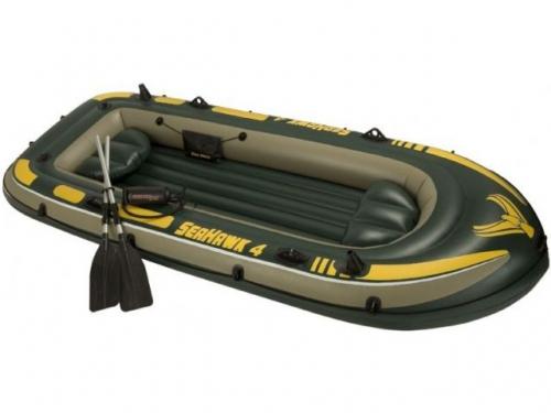 Надувная лодка четырехместная INTEX Seahawk 4 68351NP