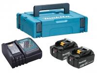 Аккумуляторы MAKITA 2 шт. BL1860B 6.0 Ah + зарядное DC18RC