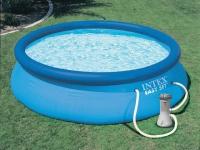 Надувной бассейн INTEX Easy Set + фильтр-насос 28122NP