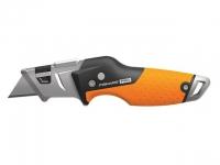 Нож строительный складной, со сменным лезвием CarbonMax FISKARS (1027224)