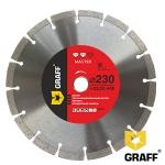 Алмазный диск GRAFF Master по бетону и камню 230x10x2,6x22,23 мм