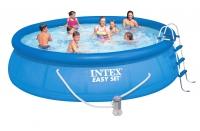 Бассейн надувной с комплектом 457х107 см, Easy Set, Intex 28166/54908