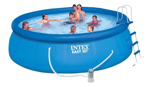 Бассейн надувной 457х122 cм, Easy Set, Intex 28168/54916