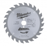 Диск пильный по дереву MILWAUKEE D 165х20х2,6 мм 24Z для циркулярной пилы