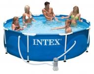 Бассейн каркасный с комплектом 305х76 см, Metal Frame, Intex 28202/56999