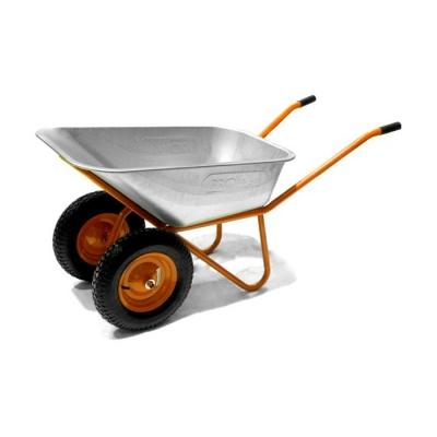 Тачка строительная усиленная 2х110 profi PU литые колёса