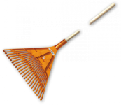 Грабли веерные BRADAS - 22 зубца, черенок деревянный, KT-CX22B