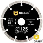 Алмазный диск GRAFF по бетону и камню 125x7x2,2x22,23 мм