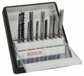 BOSCH ROBUST Line набор пилок к лобзику Wood and Metal 10шт с-T-образным хвостовиком