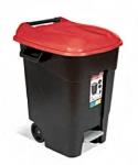 Контейнер для мусора пластик. 100л с педалью