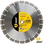 Алмазный отрезной диск 350 мм по армир. бетону и камню GRAFF Expert