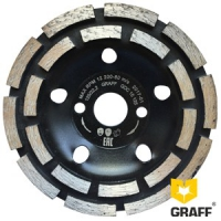 Алмазная чашка GRAFF по бетону двухрядная 125x22,23х20Т мм