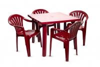 Набор садовой мебели Луч бордовый