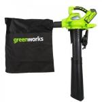 Greenworks 40V G-MAX аккумуляторный воздуходув - пылесос GD40BV