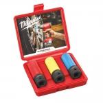 Набор ударных головок для автосервиса MILWAUKEE - 3 шт. (4932451568)