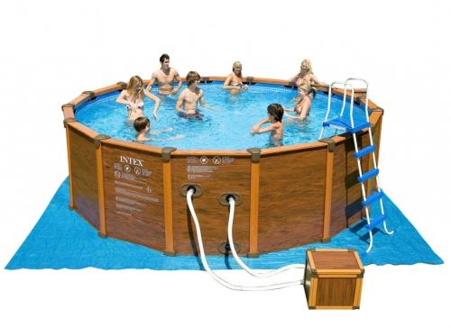 Бассейн каркасный с комплектом 478x124 см, Sequoia Spirit, Intex 28382/54928