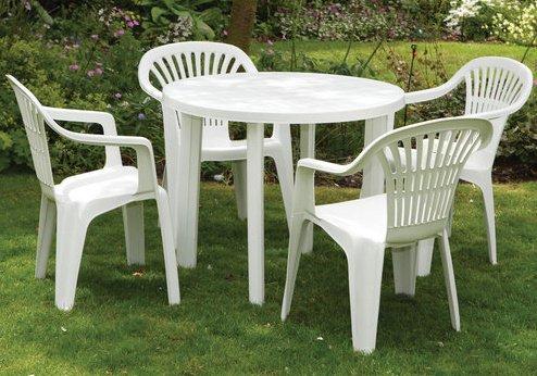 Набор садовой мебели Луч белый