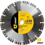 Алмазный отрезной диск 230 мм по армир. бетону и камню GRAFF Expert