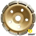 Алмазная чашка по бетону GRAFF 125x22,23х10Т мм