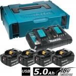 Аккумулятор MAKITA BL1850 4*5.0 Ah Li-Ion + зарядное DC18RD