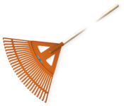 Грабли веерные BRADAS - 27 зубцов, черенок деревянный, KT-CX27W в Бресте