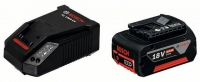 Аккумулятор Bosch GBA 18 V 4.0 Ah (-1-) Professional + зарядное AL 1860 CV