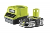 Батарея аккумуляторная + зарядное RYOBI RC18120-125 ONE+