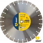 Алмазный отрезной диск 400 мм по бетону и камню GRAFF Master