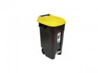 Контейнер для мусора пластик.TAYG 120л с педалью