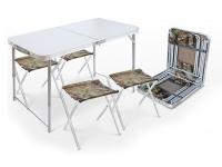 Набор складной стол влагостойкий и 4 стула NIKA