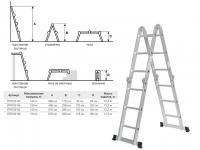 Лестница алюминевая многофункц. STARTUL 330-670 см (ST9722-06)