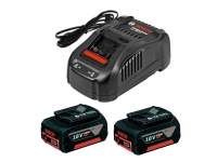 Комплект аккумуляторов Bosch GBA18 V 5 Ач 2 шт. + зарядное GAL1880CV