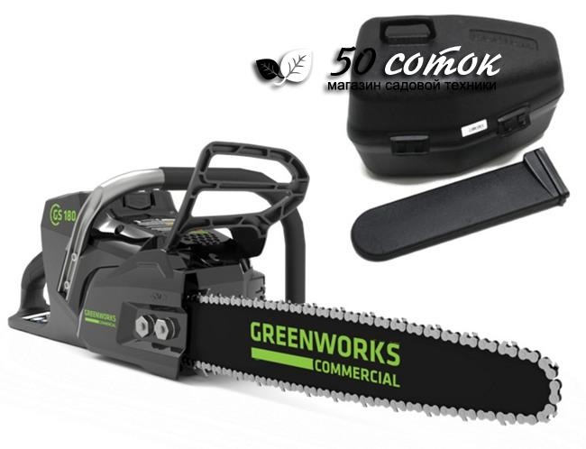 Цепная пила аккумуляторная Greenworks 82V GC82CS