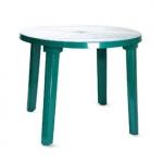 Стол пластиковый круглый зеленый Милан