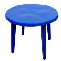 Стол круглый, синий